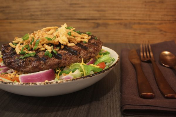 Burger in a Bowl Texas forever cafe & Grill