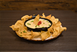 white queso and chips